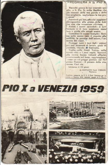 Le spoglie di Pio X a Venezia nel 1959