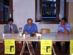 Il prof. Quirino Bortolato e il sindaco dott. Bruno Pigozzo presentano la conferenza