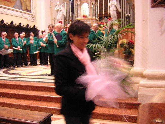 La sig.ra Nicoletta Mattiello in Miglioranza riceve un caloroso applauso