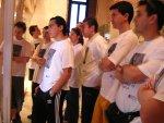 I ragazzi assistono alla presentazione del museo