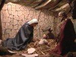 Natività, adorazione della Madonna ed elevazione bambino Gesù