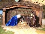 movimentazione natività, adorazione della Madonna e di san Giuseppe con il Bambin Gesù che si alza