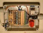 particolare del circuito regolatore luci, scheda dimmer con pic, comando da PC tramite RS232