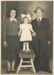 Graziella Masiero con il padre e la madre